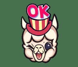 Alpaca pasture sticker #122902