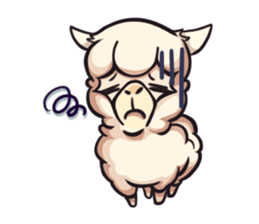Alpaca pasture sticker #122910