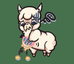 Alpaca pasture sticker #122931