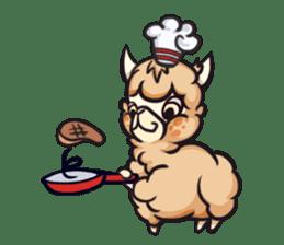 Alpaca pasture sticker #122937
