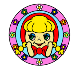 Little girl. sticker #124117
