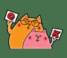Orange Cat sticker #124540