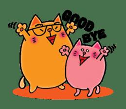 Orange Cat sticker #124579