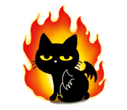 Gill The Black Cat sticker #124708