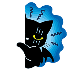 Gill The Black Cat sticker #124712