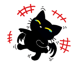 Gill The Black Cat sticker #124738