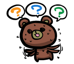 Rabbit and Bear -Bad Status- sticker #124903