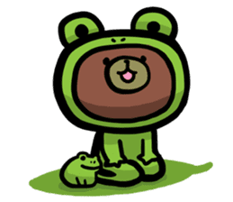 Rabbit and Bear -Bad Status- sticker #124909