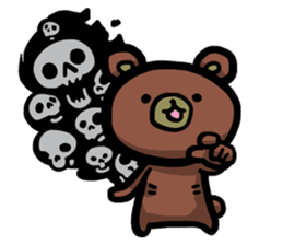 Rabbit and Bear -Bad Status- sticker #124923