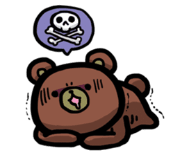Rabbit and Bear -Bad Status- sticker #124924