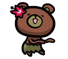 Rabbit and Bear -Bad Status- sticker #124938