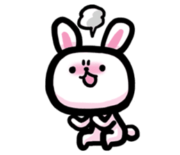 Rabbit and Bear -Bad Status- sticker #124939