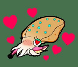 Bigfin reef squid sticker #125146