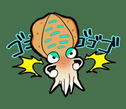 Bigfin reef squid sticker #125155