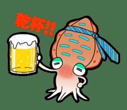 Bigfin reef squid sticker #125160