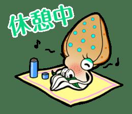 Bigfin reef squid sticker #125166