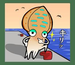 Bigfin reef squid sticker #125179