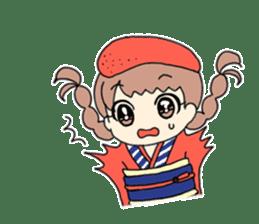 Mentai girl -eldest daughter- sticker #125863