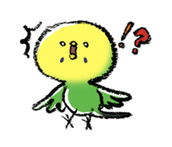 Budgerigar parakeet series sticker #126631