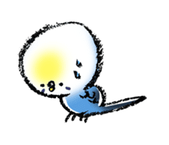 Budgerigar parakeet series sticker #126634