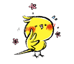 Parakeet cockatiel series sticker #127555