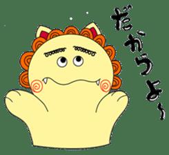 Okinawan Talky Shisa ~Okinawan dialects~ sticker #128420