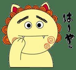 Okinawan Talky Shisa ~Okinawan dialects~ sticker #128421
