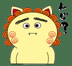 Okinawan Talky Shisa ~Okinawan dialects~ sticker #128425