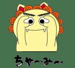 Okinawan Talky Shisa ~Okinawan dialects~ sticker #128432
