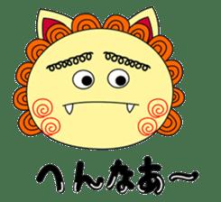 Okinawan Talky Shisa ~Okinawan dialects~ sticker #128436