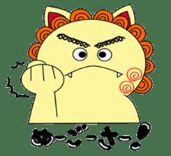 Okinawan Talky Shisa ~Okinawan dialects~ sticker #128437