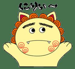 Okinawan Talky Shisa ~Okinawan dialects~ sticker #128443