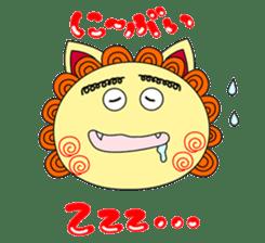 Okinawan Talky Shisa ~Okinawan dialects~ sticker #128447