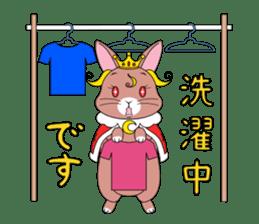 Prince of rabbit2 sticker #128782