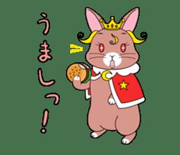 Prince of rabbit2 sticker #128783