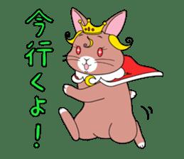 Prince of rabbit2 sticker #128796