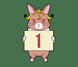 Prince of rabbit2 sticker #128814