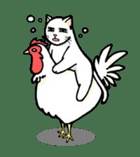 strawberry cats sticker #129116