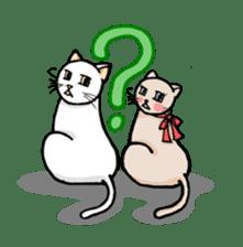 strawberry cats sticker #129123