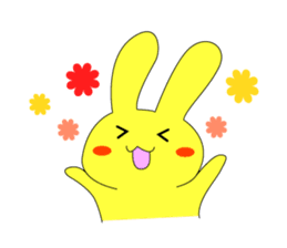 Yellow rabbit sticker #129271