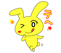 Yellow rabbit sticker #129291