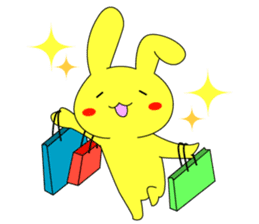 Yellow rabbit sticker #129293
