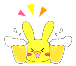 Yellow rabbit sticker #129296