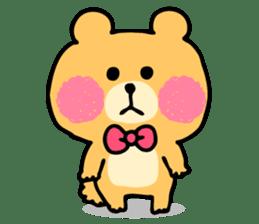 Round Bear sticker #130620