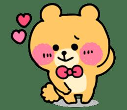 Round Bear sticker #130622