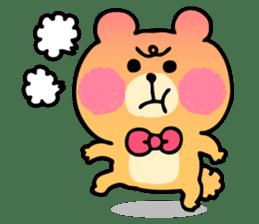 Round Bear sticker #130623