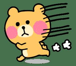 Round Bear sticker #130625