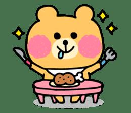 Round Bear sticker #130628