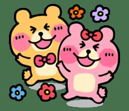 Round Bear sticker #130629