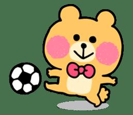 Round Bear sticker #130632